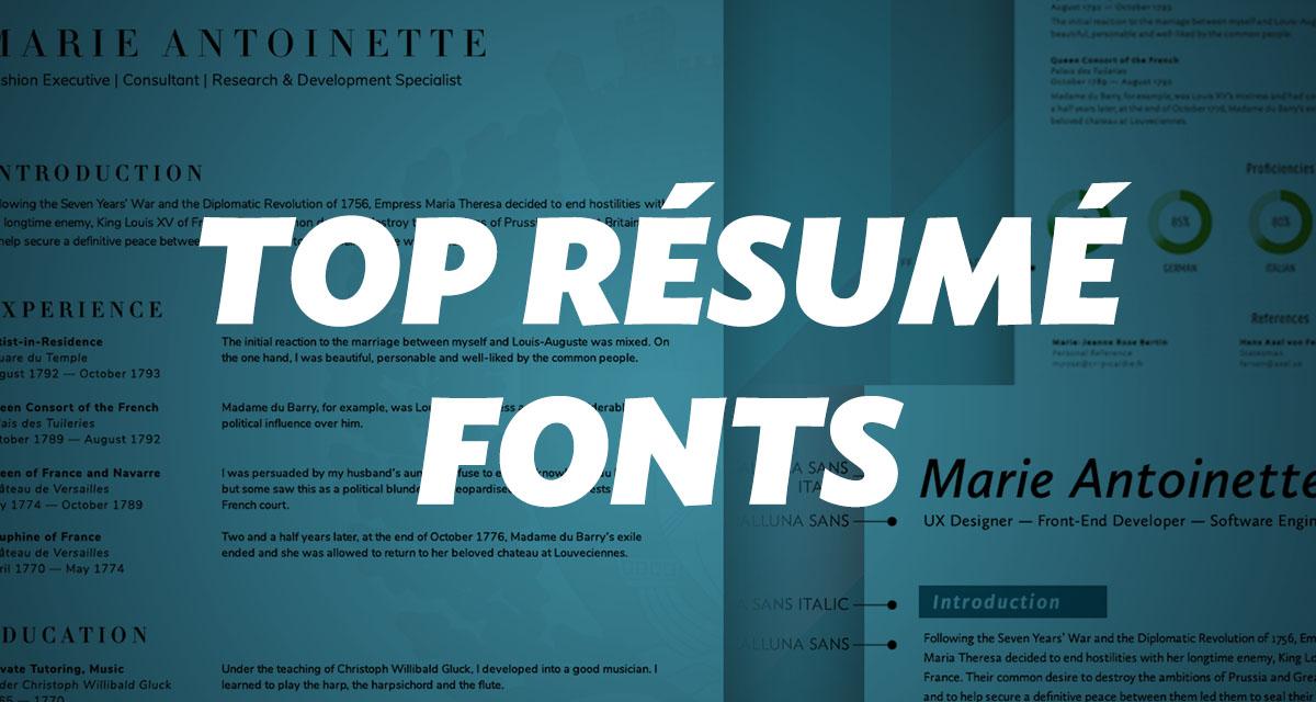 What Fonts Should I Use on My Résumé? - union io